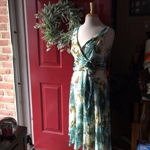 Blue floral dress size 12